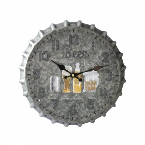 HTI-Line Wanduhr »Wanduhr Bier«