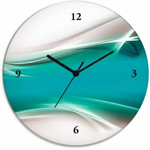Artland Wanduhr »Kreatives Element«, blau