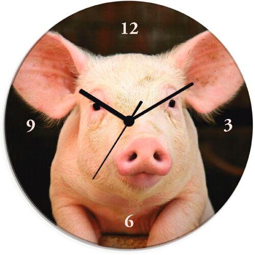 Artland Wanduhr »Vorwitziges Schwein«