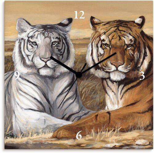 Artland Wanduhr »Tiger Mittagsruhe«