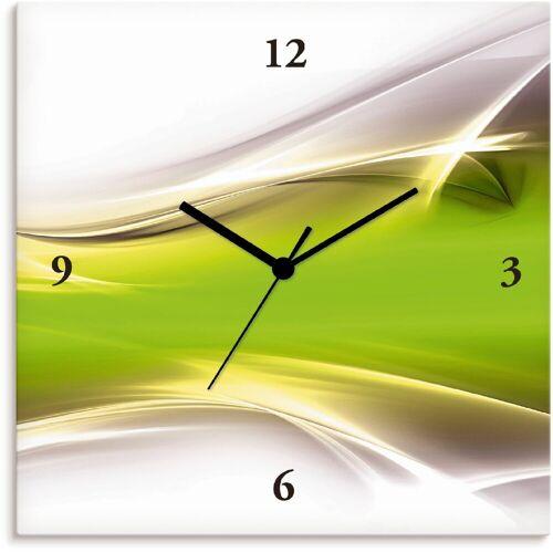 Artland Wanduhr »Kreatives Element«, grün