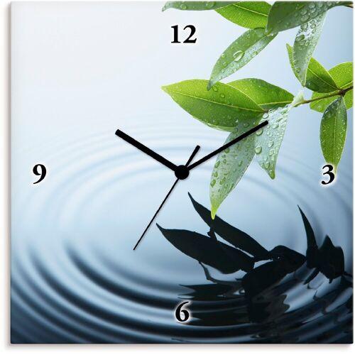 Artland Wanduhr »Pflanze und Wasser«