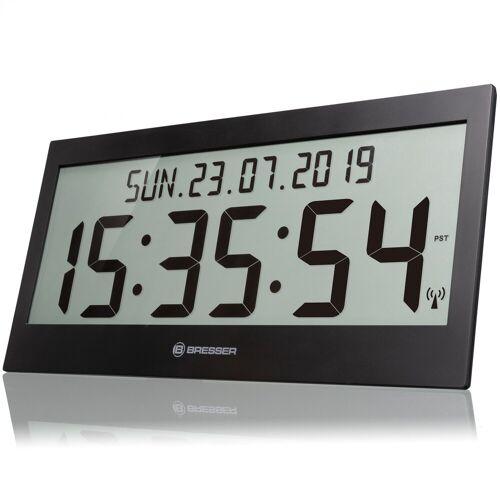 BRESSER Funkwanduhr »LCD Jumbo DCF Funkuhr Wanduhr«, schwarz