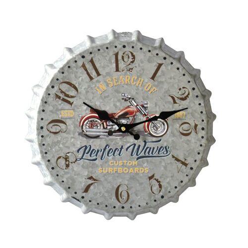 HTI-Line Wanduhr »Wanduhr Motorcycle«