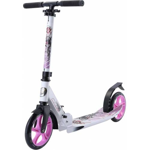 Star-Scooter Cityroller, Abgesenktes Trittbrett, violett-weiß