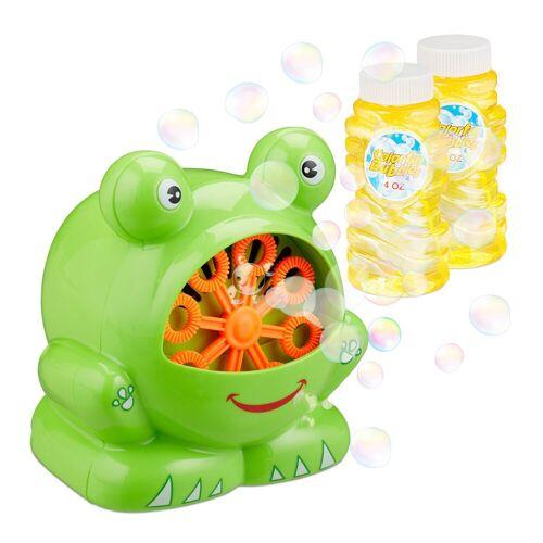 relaxdays Seifenblasenmaschine »Seifenblasenmaschine Frosch«