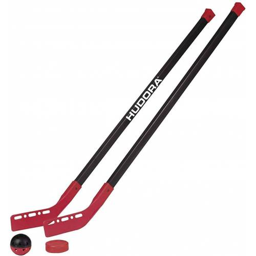 Hudora Hockey-Schläger »Street Hockey-Set Kids - 2 Hockeyschläger + 1 Hockey-Ball + 1 Hockey-Puk« (4-tlg)