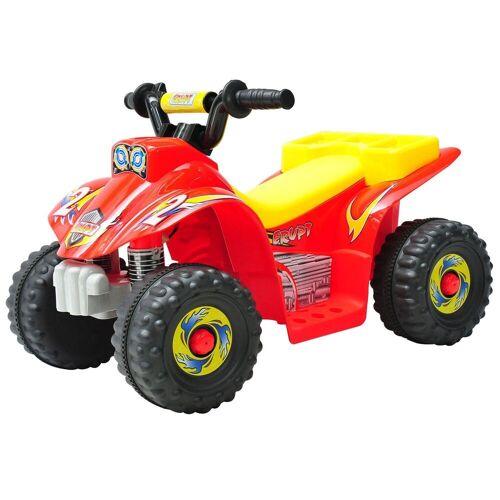 HOMCOM Elektro-Kinderquad »Kinderauto Quad«, rot-gelb