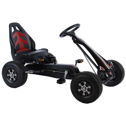 Volare Go-Kart »Go-Kart Racing Car Big Wheel«, Tretauto für Kinder von 4-7 Jahren mit Luftreifen - GoKart