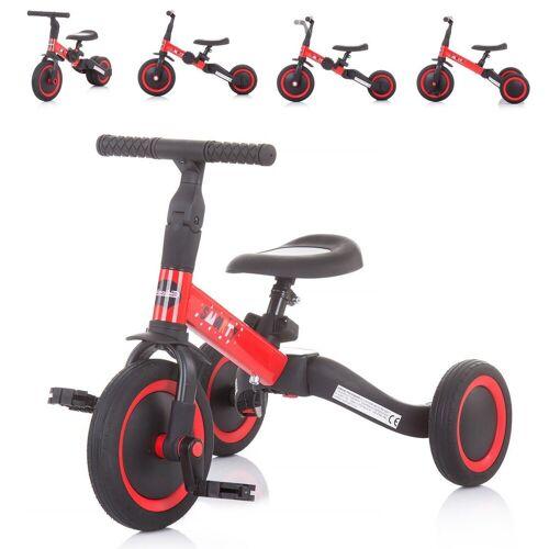 Chipolino Dreirad »Dreirad Laufrad Smarty 2 in 1«, Laufrad Gummireifen umbaubar Pedale verstellbar, rot