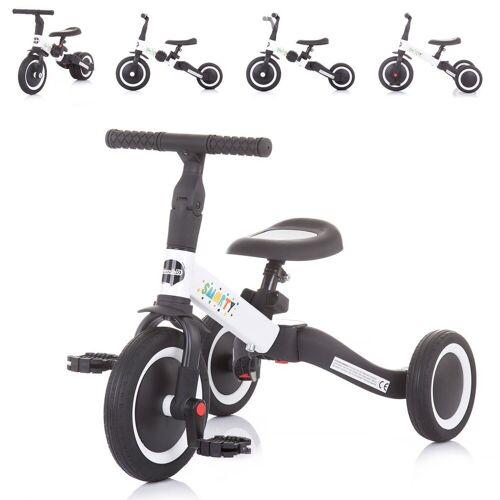 Chipolino Dreirad »Dreirad Laufrad Smarty 2 in 1«, Laufrad Gummireifen umbaubar Pedale verstellbar, weiß