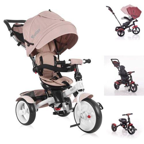 Lorelli Dreirad »Tricycle Neo 4 in 1«, EVA-Reifen, Schiebestange, Sitz drehbar, verstellbar, beige