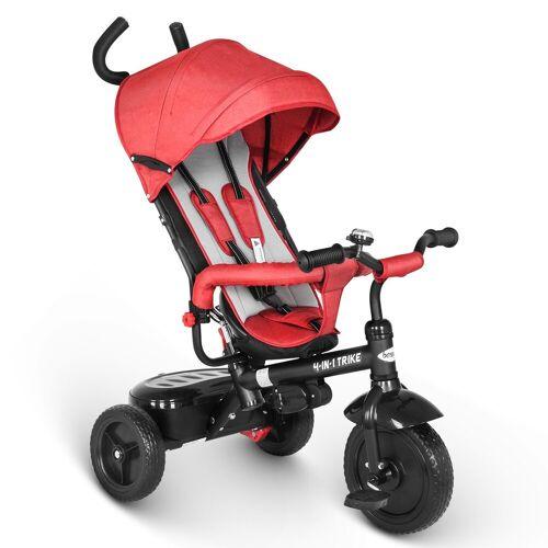 besrey Dreirad »Dreirad ab 10 Monate mit schubstange Kinderdreirad Kinderwagen Kinder Fahrrad«, rot