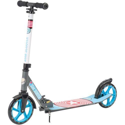 Star-Scooter Cityroller, XXL Trittbrett, Abgesenktes Trittbrett, blau-grau