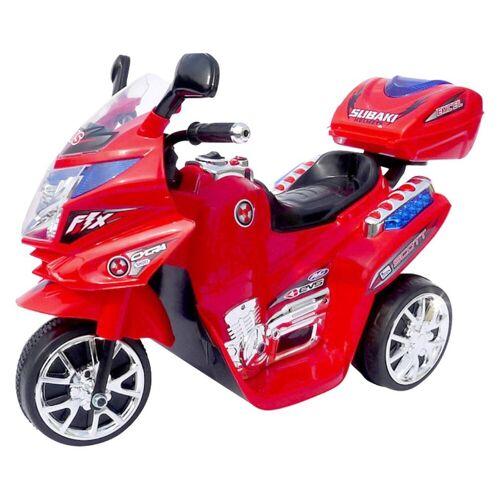 Actionbikes Motors Elektro-Kinderdreirad »Kinder Elektroauto C051«, Belastbarkeit 25 kg, Elektro Motorrad / Auto / Dreirad bis zu 3km/h, Rot