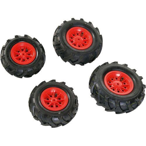 Rolly Toys rollyTrac Luftreifen, rote Felgen, 2x 260x95 + 2x 325x110, rot
