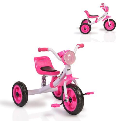 Moni Dreirad »Dreirad Felix«, mit EVA-Reifen, Melodien, Vorderlicht ab 3 Jahre, rosa