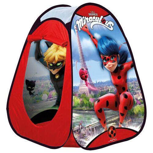 JOHN Pop Up Spielzelt Miraculous Ladybug, rot-kombi