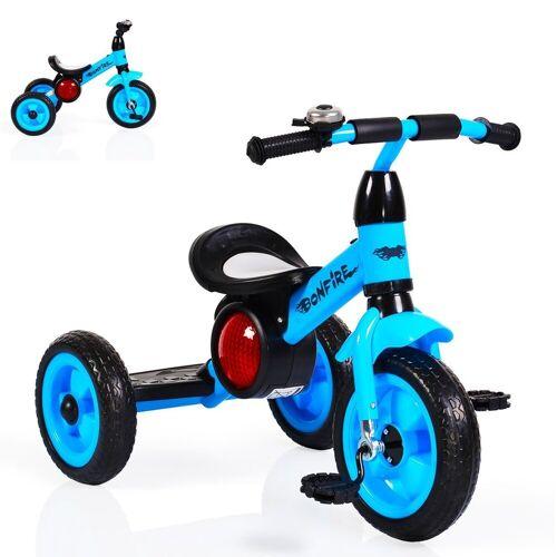 Moni Dreirad »Dreirad Bonfire«, mit EVA-Reifen, Trittbrett, Musik, Licht, Fahrradklingel, blau