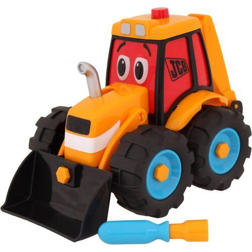 Wader Wozniak JCB Build & Go Traktor mit Frontschaufel, orange