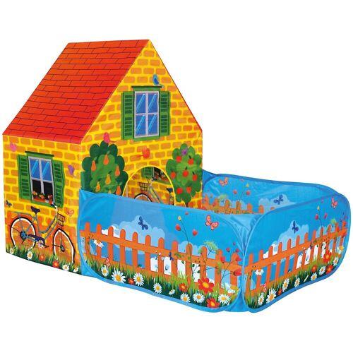 BINO Spielzelt Haus mit Vorgarten