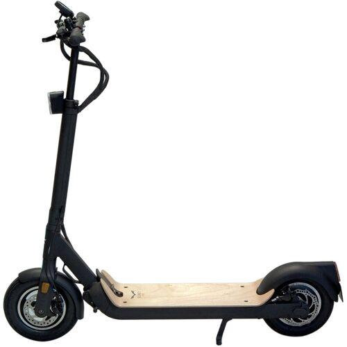 Egret E-Scooter »TEN V4 (StVZO)«, 500 W, 18 km/h, schwarz mit Holzbrett