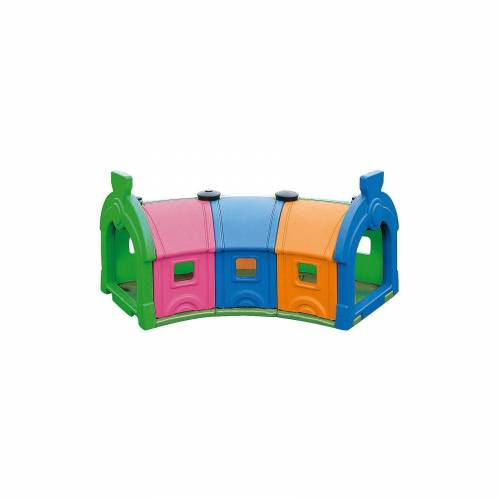 Wagon Toy 3 Waggons, bunt