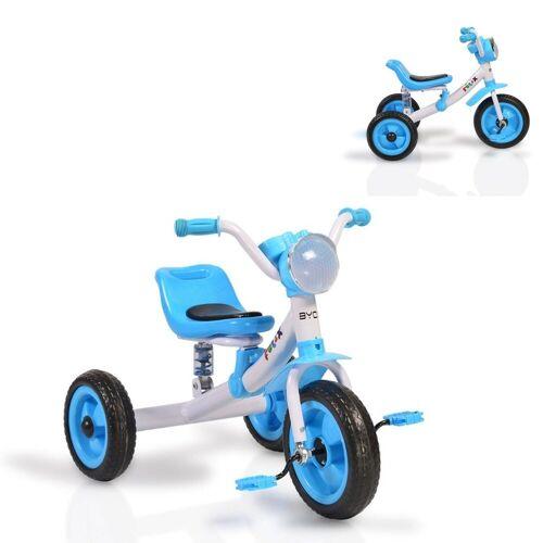 Moni Dreirad »Dreirad Felix«, mit EVA-Reifen, Melodien, Vorderlicht ab 3 Jahre, blau