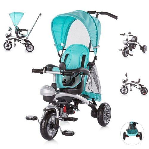 Chipolino Dreirad »Tricycle Maverick«, Dreirad 5 in 1, Laufrad, Sitz drehbar, EVA-Reifen, blau