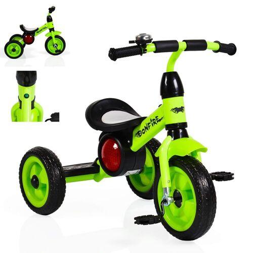 Moni Dreirad »Dreirad Bonfire«, mit EVA-Reifen, Trittbrett, Musik, Licht, Fahrradklingel, grün