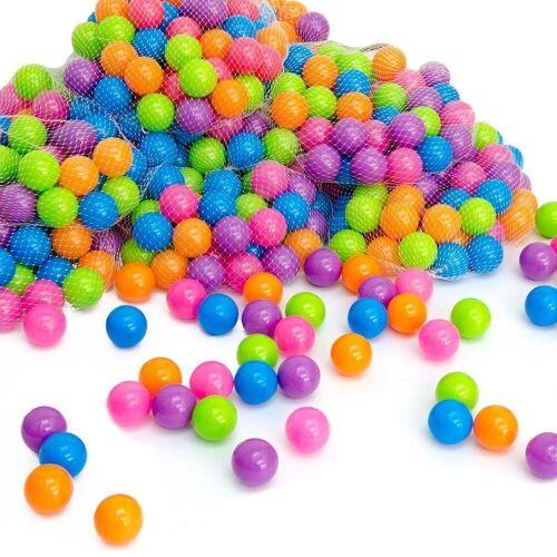 LittleTom Bällebad-Bälle »100 bunte Bälle für Bällebad 5,5cm Babybälle«, Plastikbälle Baby Spielbälle