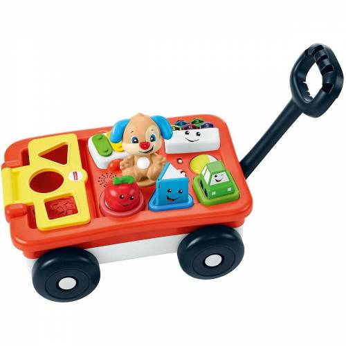 Mattel Steckspielzeug »Fisher-Price Lernspaß Bollerwagen (D)«