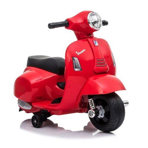 LEAN Toys Elektro-Kindermotorrad »Kinderroller elektrisch Vespa GTS 300 Mini 6V Red«, Elektroroller Motorroller für Kinder