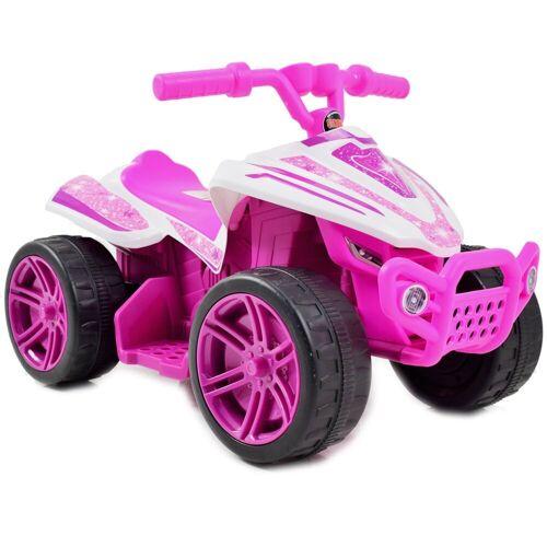LEAN Toys Elektro-Kinderquad »Quad ATV Kinderquad Pink Star 6V Elektroquad«, rosa für Kinder Kinderfahrzeug elektrisch
