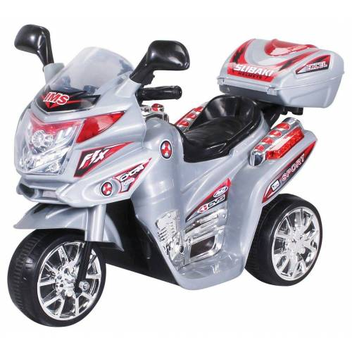 Actionbikes Motors Elektro-Kinderdreirad »Kinder Elektroauto C051«, Belastbarkeit 25 kg, Elektro Motorrad / Auto / Dreirad bis zu 3km/h, Silber