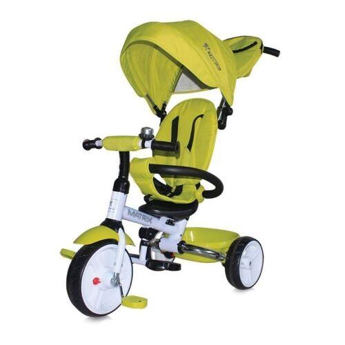Lorelli Dreirad »Tricycle Matrix 3 in 1«, klappbar, EVA-Reifen, Lenkstange, Faltdach, grün