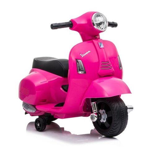 LEAN Toys Elektro-Kindermotorrad »Elektroroller Pink Vespa GTS 300 Mini 6V rosa«, Motorroller Kinderroller elektrisch