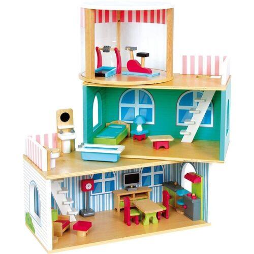 LeNoSa Puppenhaus »Holz Puppenhaus Variabel Deluxe«