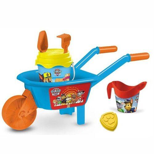 Mondo Outdoor-Spielzeug »Paw Patrol Schubkarre mit Eimer 7-teilig Sandspielzeug«, (7-tlg)