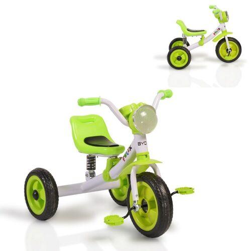 Moni Dreirad »Dreirad Felix«, mit EVA-Reifen, Melodien, Vorderlicht ab 3 Jahre, grün