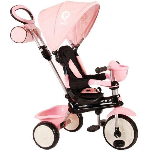 QPlay Dreirad »Dreirad Komfort 4 in 1 - Jungen und Mädchen«, rosa