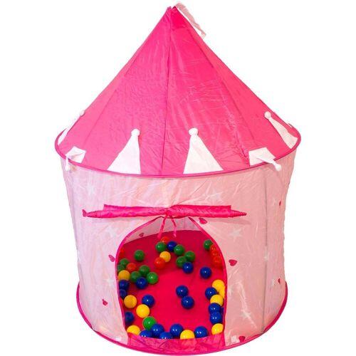 NATIV Spielzeug Bällebad, rosa TURM mit 100 Bällen