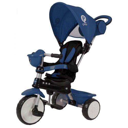 QPlay Dreirad »Dreirad Komfort 4 in 1 - Jungen und Mädchen«, blau