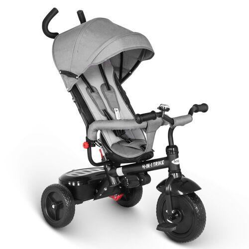 besrey Dreirad »Dreirad ab 10 Monate mit schubstange Kinderdreirad Kinderwagen Kinder Fahrrad«, grau