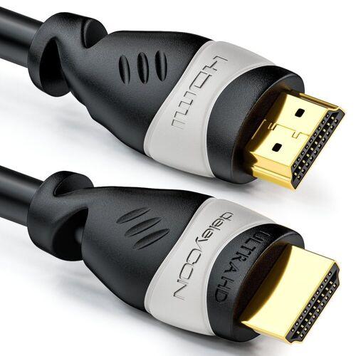 deleyCON »7,5m HDMI Kabel UHD 4K 3D 1080p 2160p ARC TV LED Beamer OLED PC Grau« HDMI-Kabel