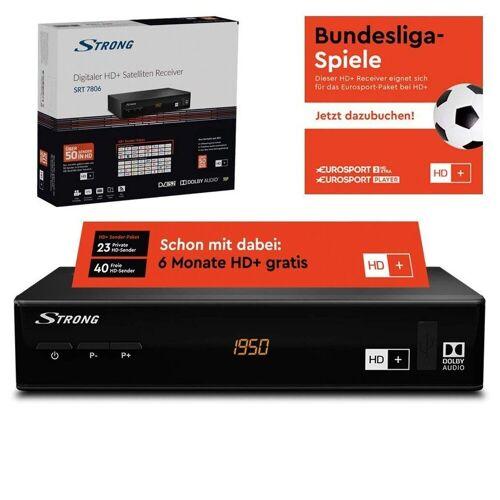 Strong »SRT 7806 inkl. 6 Monate HD+ Sat-Receiver« SAT-Receiver
