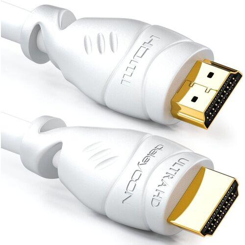 deleyCON »20m HDMI Kabel 2.0 / 1.4 Ethernet 4K UHD FULL HD 3D LED TV Beamer « HDMI-Kabel