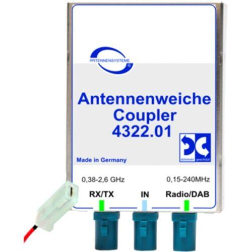 Antenne Bad Blankenburg Zubehör »Antennenweiche AM/FM/DAB+ und GSM900/1800/TETRA«, Weiß