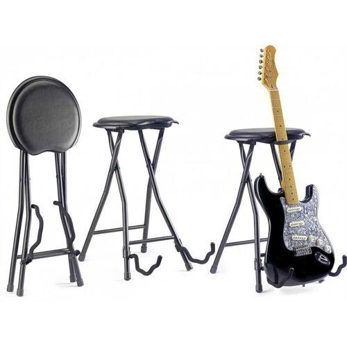 Stagg Gitarrenständer »Hocker mit Gitarrenständer«