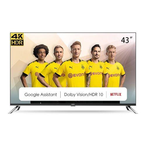 ChiQ U43H7A LED-Fernseher (43 Zoll, 4K Ultra HD, Smart-TV), Energieeffizienzklasse G (März 2021)